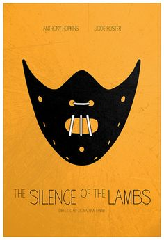 The Silence of the Lambs (1991) ~ Minimal Movie Poster by Calm the Ham #amusementphile