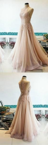 Prom Dresses Beautiful, Gorgeous 2019 tulle V neck A-line custom made, Looking for the perfect prom dress to shine on your big night? Prom Dresses 2020 collection offers a variety of stunning, stylish ball. Unique Prom Dresses, Long Prom Gowns, Popular Dresses, Formal Dresses, A Line Evening Dress, Evening Dresses, Ball Dresses, Ball Gowns, Make Your Own Dress