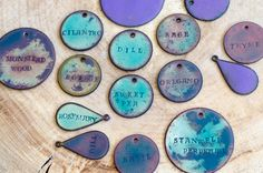 Hand-Stamped Enameled Copper Plant Labels