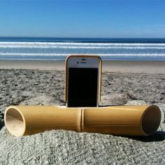 iBamboo speakers - the natural resonance of the bamboo is what amplifies the sound!
