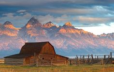 Jackson Hole, Wyoming - sandwiched between Grand Teton National Park to the north and miles of forest in every direction.