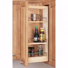Wall Cabinet Wood Pullout Organizers Rev A Shelf 448 Series Wall Cabinet Wood Cabinets Maple Kitchen Cabinets