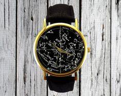 Vintage Constellation Uhr Nördlichen Hemisphäre von RedJuanShop