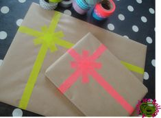 Joli paquet cadeau à base de Masking tape