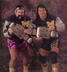 Steiner Brothers - Rick & Scott - WWF World Tag Team Champions Watch Wrestling, Wrestling Stars, Wrestling Rules, Wcw Wrestlers, Professional Wrestling, Wwe Superstars, Back In The Day, Old School, Wwe Champions