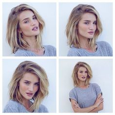 Whoa! Rosie Huntington-Whiteley Just Cut Her Hair Even Shorter ❤ liked on Polyvore featuring models and people