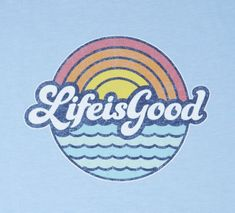 Life Is Good® Men's Sunny Waves Cool Tee Lightened-up with a laidback feel, the Life Is Good® Classic Fit Cool Tee is garment washed for softness and cut to barely skim the body, with a printed graphic and ladder stitching details. Shop more Life Is Good® Tumblr Wallpaper, Neon Wallpaper, Iphone Wallpaper, Lettering Styles, Hand Lettering, Photowall Ideas, Apple Watch Wallpaper, Happy Words, Photo Wall Collage