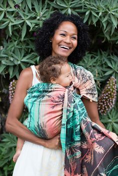 TULA Baby Carriers | Tula Seaside Miami | Tula Woven Wrap Conversion Ring Sling