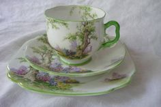 Royal Albert Tea Cup Saucer and Luncheon by LindsayJanesCottage, $45.00