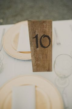 {DIY} Woodburned Table Numbers | Oh Lovely Day