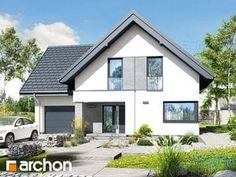 Dom w rabatkach Home Fashion, Future House, Bungalow, Kitchen Design, Pergola, Garage Doors, Shed, Exterior, House Design