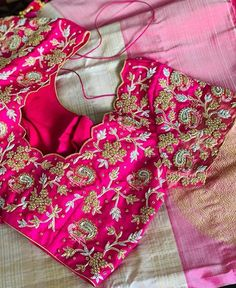 All Ethnic Customization with Hand Embroidery & beautiful Zardosi Art by Expert & Experienced Artist That reflect in Blouse , Lehenga & Sarees Designer creativity that will sunshine You & your Party Worldwide Delivery. Brocade Blouse Designs, Best Blouse Designs, Pattu Saree Blouse Designs, Simple Blouse Designs, Bridal Blouse Designs, Blouse Simple, Henley Shirts, Blouse Designs Catalogue, Models
