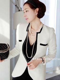 Elegant Pants Suit for Weddings | ... Blazers Elegant Women Fashion Pockets Design One Button Slim Suit