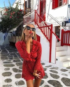 The Annabelle wrap polka dot dress is an absolute stunner! Wear this short gorgeous mini dress with boots for a beautifully unique fashionista look. Mode Outfits, Fashion Outfits, Womens Fashion, 90s Fashion, Fashion 2018, Style Fashion, Fashion Styles, Europe Fashion, Tomboy Outfits