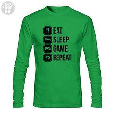 Men's Eat Sleep Game Repeat Long Sleeve T-Shirt (*Amazon Partner-Link)
