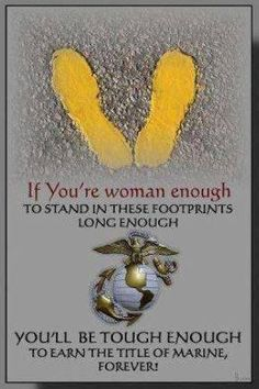 Those yellow footprints at Parris Island, I'll be back soon enough.just watch me. Once A Marine, Marine Mom, Us Marine Corps, Marine Life, Military Quotes, Military Love, Marine Quotes, Military Humor, Military Service