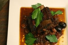 Braised Basque Short Ribs, a recipe on Rib Recipes, Chef Recipes, Cooking Recipes, Delicious Recipes, Recipies, Delicious Dishes, Keto Recipes, Dinner Recipes, Beef Short Ribs