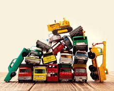 Vintage Matchbox Cars and Trucks Pile With Dozer 8x10 Photographic Print, Boys Room decor, Boys Nursery Prints. $20.00, via Etsy.