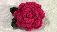 crochet roses for beginners - YouTube