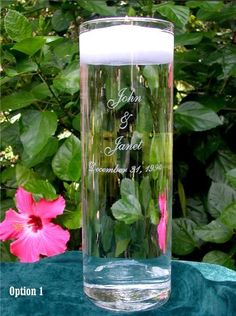 Wedding Floating Unity Candle and Engraved Vase by GlassMage, http://www.amazon.com/dp/B000RC1BSQ/ref=cm_sw_r_pi_dp_Th3Orb12YH0N3