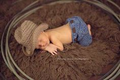 Ravelry: Newborn Jeans-- Cowboy and Sweetheart Styles pattern by Me & Morning Glory (pattern for purchase) Baby Kostüm, Baby Boy Newborn, Newborn Cowboy, Cowboy Baby, Newborn Care, Baby Sleep, Baby Boys, Boy Pictures, Newborn Pictures