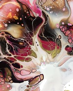 Media by Shelee Carruthers- Artist: Pulled out my daylight lamp to photograph this pour, it claims to create proper...