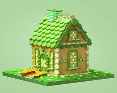 gingerbread house for St. Patrick's Day