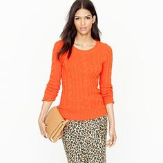 I love a crazy bright sweater! This one's from J.Crew too and is the Shrunken fisherman sweater.