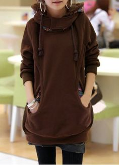 Casual Faux Twinset Design Long Sleeve Hoodie For Women