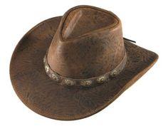 Henschel Austrailian Hand Stained Leather Cowboy Hat