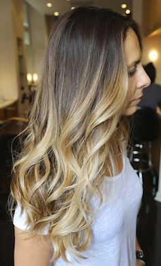 Ombre with some higher-but-still-root-proof blonde pieces..makes the ombre more blended..PERFECT for someone who are used to seeing lighter shades around face