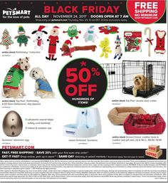 PetSmart Black Friday 2017 Ads and Deals Treat your pet to the holiday season it has always wanted and shop PetSmart Black Friday for the huge deals and sales on top pet products. Black Friday 2017 Ads, Black Friday Offer, Black Friday Shopping, Origin Of Black Friday, Xl Dog Beds, Last Minute Diy Costumes, Happy Fathers Day Daddy, Purina Friskies, Bead Board Walls