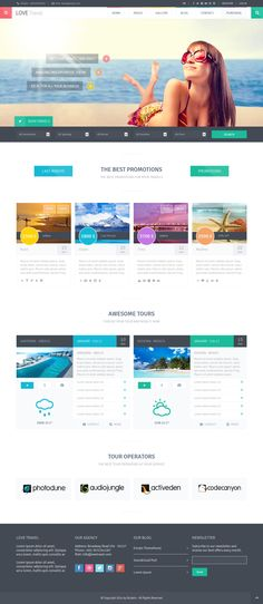 Love Travel - Creative Travel Agency WordPress #wp #creative #web