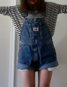 (Mickey, there are stripes. Would be a you'll love number, but there are also dungarees. I love me a good pair of dungarees.)