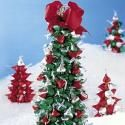 Pretty to look at and simple to make, chocolate kiss trees are an easy, kid-friendly holiday craft.