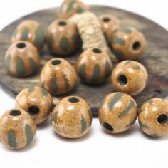 Unique sand beads for beautiful summer necklace 🏖 #Etsy #jewelry #ceramics #pottery #summer #beads #handmade