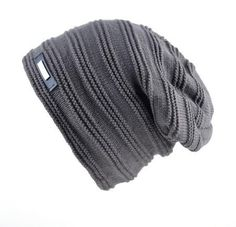 852d7d99af5 Men s Winter Strip knitted Beanie Knit Beanie Hat