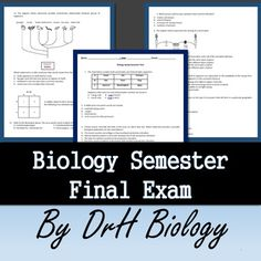 This is a comprehensive, final exam that covers genetics, classification and ecology. I have several questions that require analysis and higher-level thinking/processing. Biology Review, Biology Test, Biology Lessons, Biology Teacher, Science Lessons, Mad Science, Stem Science, Middle School Teachers, Middle School Science