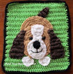 Dog applique (pattern) on Knot Your Nana's Crochet