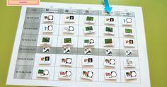Nuevo modelo de horario de aula con pictogramas removibles, ideal para los cambios que se van procediendo cada curso escolar o en el mismo....