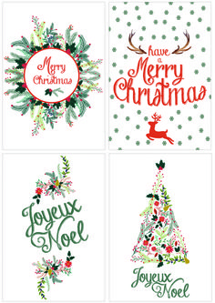 DIY: Cartes de Noël à télécharger - L'appartement Living - A life & style blog
