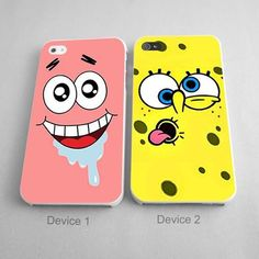 Patrick And Spongebob Silly Face Couples Phone Case iPhone Series, iPhone - Hard Plastic, Rubber Case Best Friend Cases, Bff Cases, Couples Phone Cases, Friends Phone Case, Funny Phone Cases, Iphone Cases Disney, Diy Phone Case, Iphone Phone Cases, Iphone 8