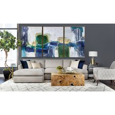 Andre Sectional, Dawson Cement - Sectionals - Sofas - Furniture
