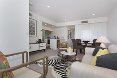 Living area - DoubleOne 3 Apartments by Devine | Teneriffe, QLD Australia #devine #apartment #property #investment #brisbane #australia