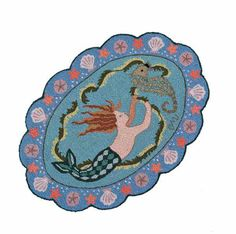 The Boxwood Cottage - this mermaid rug by Clare Murray is a steal for your lav at $65!