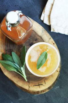 Whip up this Peach Shrub Mocktail for happy hour.