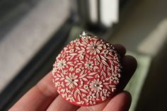 Polymer Clay Lace in Red by Cherrychestnuts on Etsy