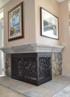 Corner Two Sided Fireplace Mantels Corner Fireplaces Big Tiles Design Ideas Lynn 39 S Ideas