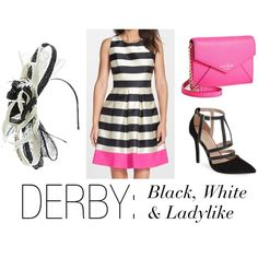 Black and white look for the Kentucky Derby on The Offbeat Belle