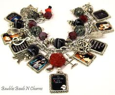 Phantom of the Opera Inspired Charm Bracelet, Altered Art Charm Bracelet, Silver Plated, Phantom of the Opera Jewelry on Etsy, $41.88